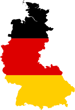 Flag-map of West Germany (1949–1990)