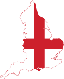 Flag map of England