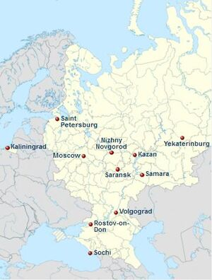 2018 FIFA World Cup is located in European Russia