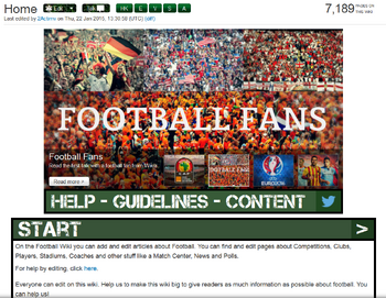 Football Wiki Home Page Begin 2015 New
