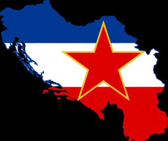 Flag-map of Yugoslavia