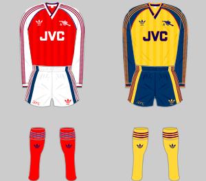 Arsenal FC Kits, 1988-1990