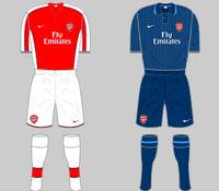 Arsenal Kit 2009-10