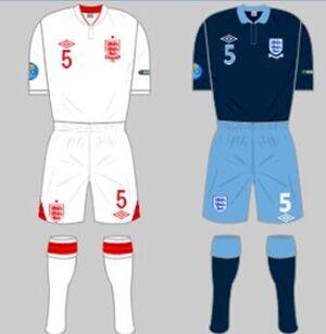 England Kit UEFA Euro 2012