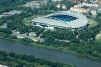 Leipzig von oben Zentralstadion