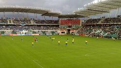 Samba boys kick off the match in Tallinn