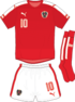 Austria Euro 2016 home kit