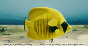Fish Yellow Butterfly