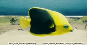 Fish Yellow Black Dot