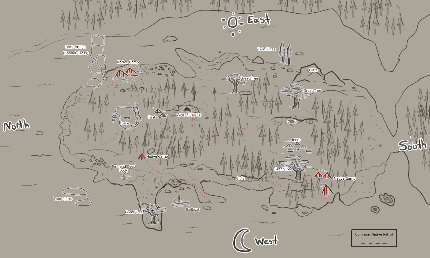 Image  Map Of Islandpng  The Forest Wiki  FANDOM powered by Wikia