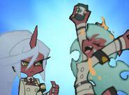 Scanty and Kneesocks Demon Sistas