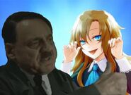 Hitler and Mary Brosistas pose