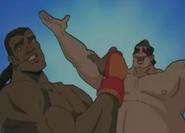 E. Honda and Deejay Bros Pose