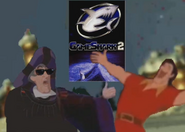 Frollo and Gaston Bros Pose with Gameshark