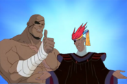 Sarawut Frollo and Sagat Bros Pose