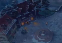 Gaston's Pub Outside snow