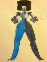 Blue garnet three