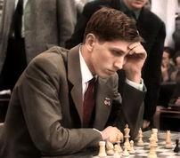 Bobby Fischer 1960 in Leipzig