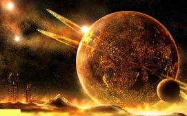Sci Fi planet rise 373327