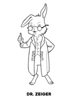 Doctor Zeiger coloring page