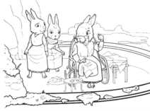 Maggie Weaver, Heather, and Emma coloring page