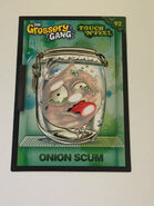 Onion scum touch n feel card