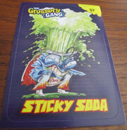 Sticky soda sticker card