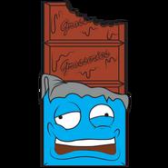 Crusty Chocolate Bar Blue Gray