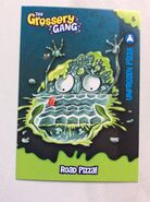 Unfrozen pizza collector card