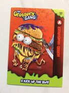 Horrid hamburger collector card