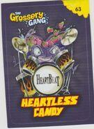 Heartless candy sticker card