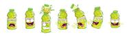 Sweaty sports drink renderings