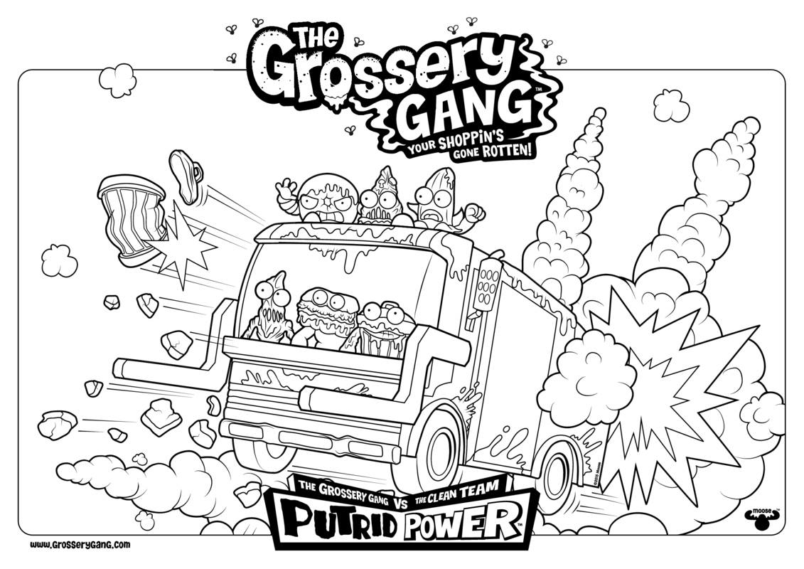 Image - Group coloring page.jpg | The Grossery Gang Wikia | FANDOM ...