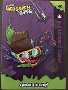 Crusty chocolate bar card