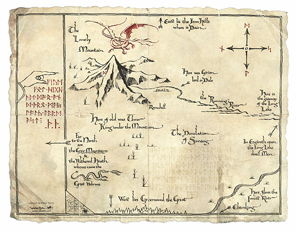 The Map Of The Hobbit Thorin's Map | The Hobbit Films Wiki | FANDOM powered by Wikia