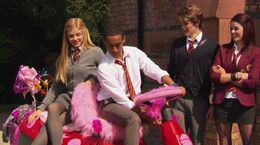 Her ride to school