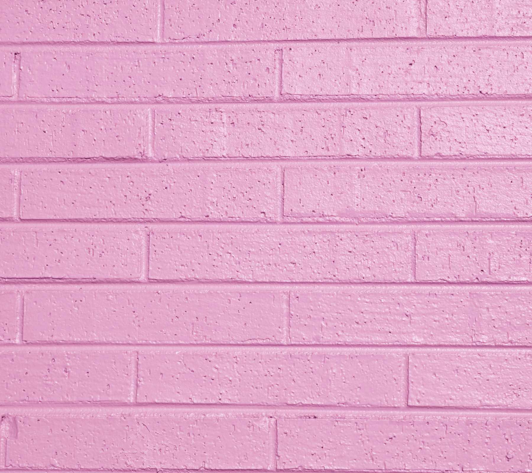 Pink Painted Brick Wall