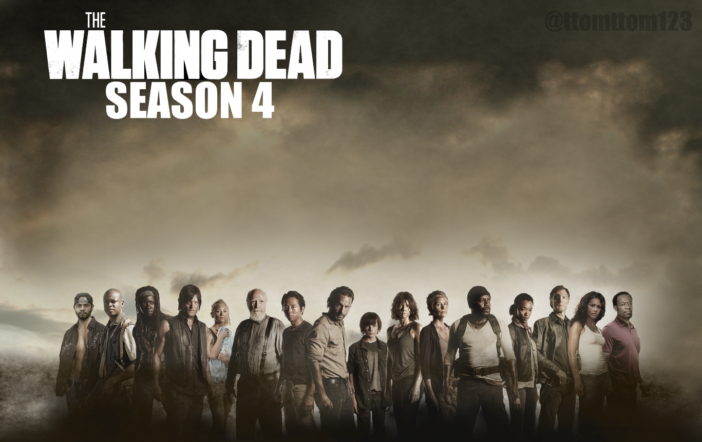 Image - SEASON-4-COMPLETE-CAST-POSTER-The-Walking-Dead-the-walking ...