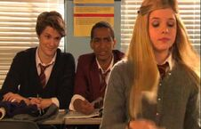 Jerome is smiling at Ambers attack at alfie