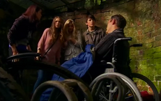 Patricia, Amber, Nina, and Fabian with Rufus