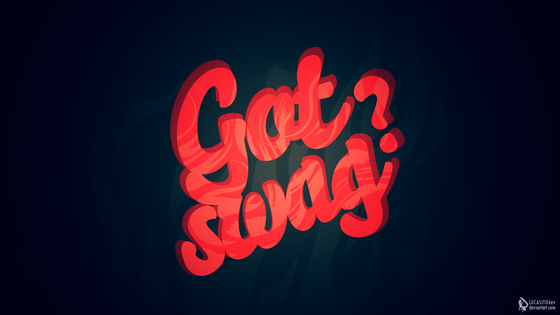 Typography Swag Blue Background HD Wallpapers