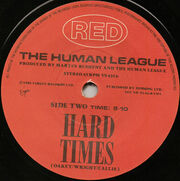 Hard Times (Love Action) UK 7in B side label