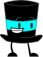Cyan Top Hat Pose 2