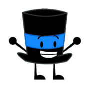 Blue Top Hat Pose 1