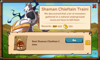 Shaman Chieftain Training