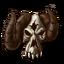 Equips Shining Skull