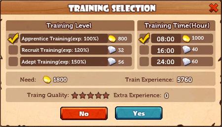 Training Grounds Training Selection