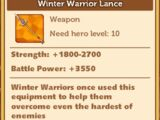 Winter Warrior Lance