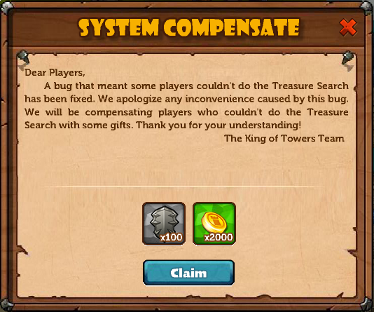 Compensation due to bug