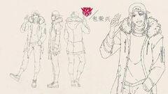 Bao rongxing poses